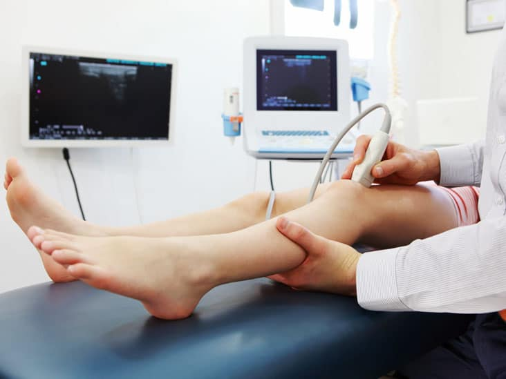 ultrasound therapy at chiropractor clinic